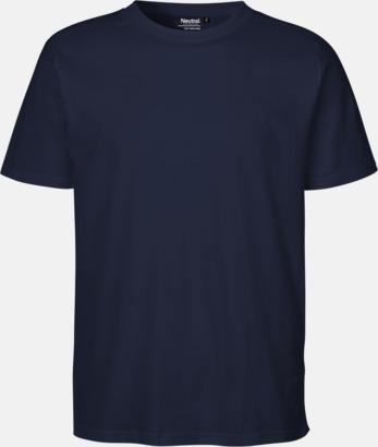 Navy (PMS 533C) Ekologiska fairtrade t-shirts med tryck