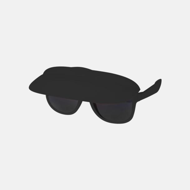 Svart Solglasögon med inbyggd skärm - med reklamtryck