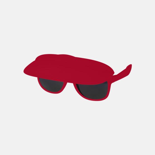 Röd Solglasögon med inbyggd skärm - med reklamtryck