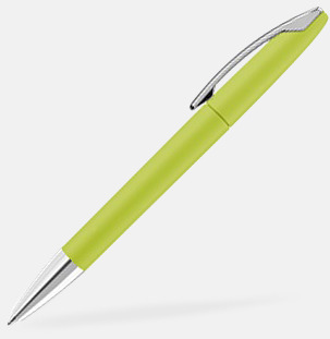 Ljusgrön Soft touch-pennor med reklamtryck