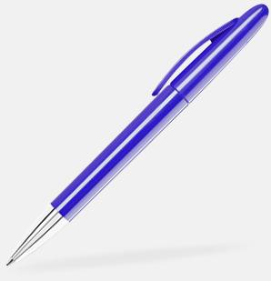 Dark Violet Pennor med blanka, solida pennkroppar med reklamlogo