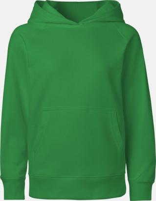 Grön Ekologiska barntröjor med eller utan blixtlås - med reklamtryck