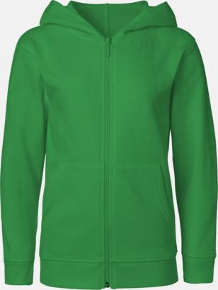 Grön (med blixtlås) Ekologiska barntröjor med eller utan blixtlås - med reklamtryck