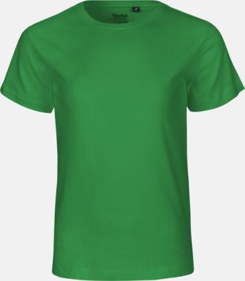 Grön Ekologiska t-shirts för barn av ekologisk bomull - med tryck