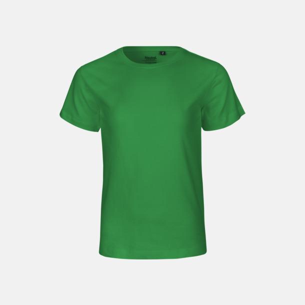 Grön (PMS 347 U) Ekologiska t-shirts för barn av ekologisk bomull - med tryck
