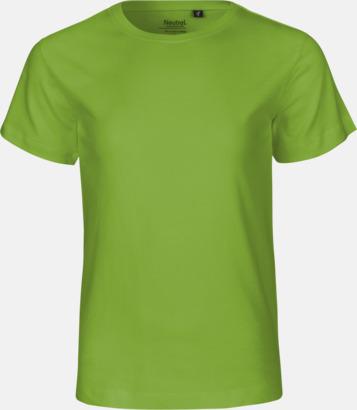 Limegrön Ekologiska t-shirts för barn av ekologisk bomull - med tryck