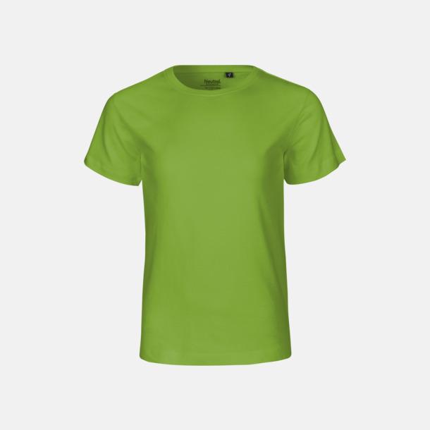 Lime (PMS 7488 U) Ekologiska t-shirts för barn av ekologisk bomull - med tryck