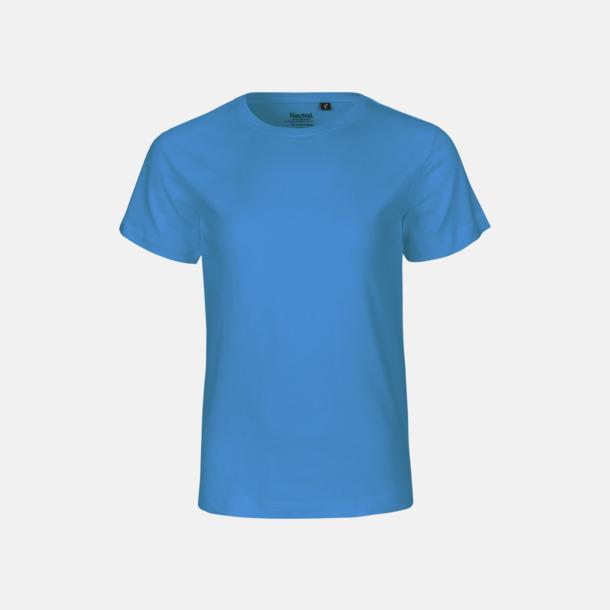 Sapphire (PMS CYAN C) Ekologiska t-shirts för barn av ekologisk bomull - med tryck