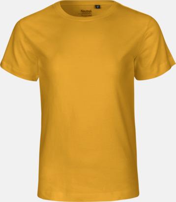 Gul Ekologiska t-shirts för barn av ekologisk bomull - med tryck