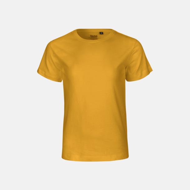 Gul (PMS 122 U) Ekologiska t-shirts för barn av ekologisk bomull - med tryck