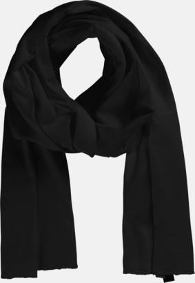 Svart Eko & Fairtrade-certifierade scarfs med reklamtryck