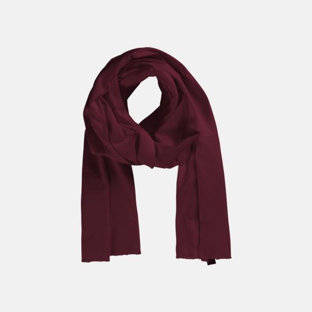 Bordeaux (PMS 222 U) Eko & Fairtrade-certifierade scarfs med reklamtryck