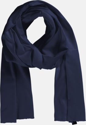 Marinblå Eko & Fairtrade-certifierade scarfs med reklamtryck
