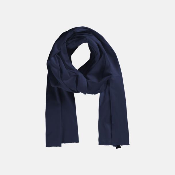 Marinblå (PMS 533 C) Eko & Fairtrade-certifierade scarfs med reklamtryck