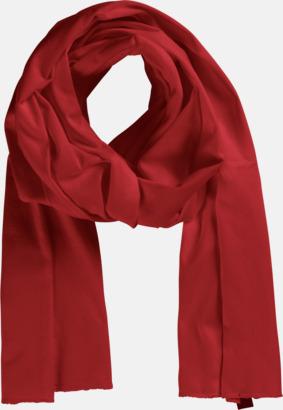 Röd Eko & Fairtrade-certifierade scarfs med reklamtryck