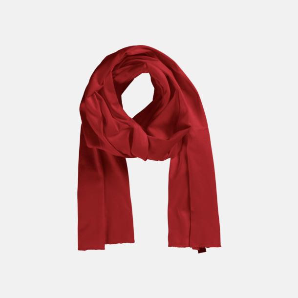 Röd (PMS 199 U) Eko & Fairtrade-certifierade scarfs med reklamtryck