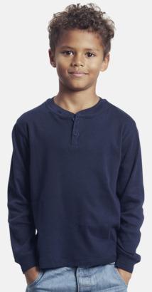Marinblå (endast barn) Långärmade herr-, dam- & barn t-shirts eko & Fairtrade med reklamtryck