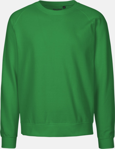 Grön (PMS 347C) Ekologiska och Fairtrade-certifierade bomullströjor i unisexmodell med reklamtryck