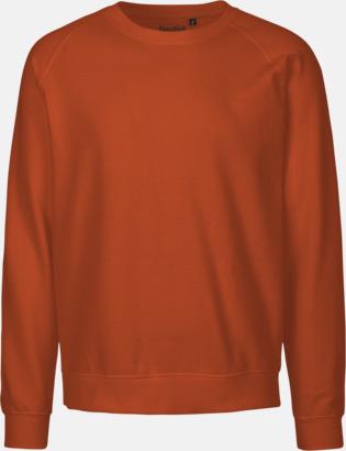 Orange Ekologiska och Fairtrade-certifierade bomullströjor i unisexmodell med reklamtryck