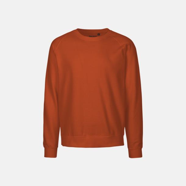 Orange (PMS 021C) Ekologiska och Fairtrade-certifierade bomullströjor i unisexmodell med reklamtryck