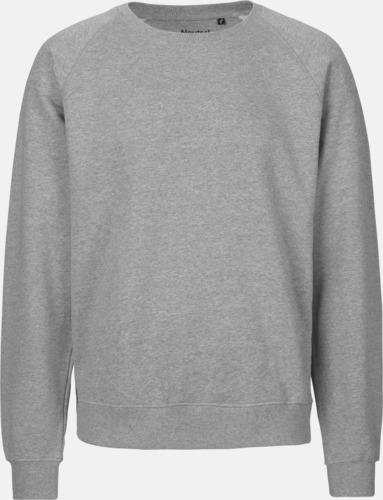 Sports Grey Ekologiska och Fairtrade-certifierade bomullströjor i unisexmodell med reklamtryck
