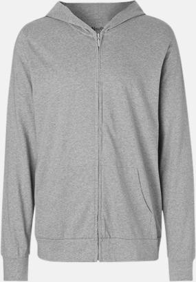 Sports Grey Ekologiska huvtröjor med blixtlås i unisexmodell med reklamtryck