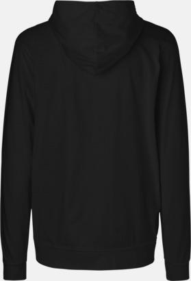 Ekologiska huvtröjor med blixtlås i unisexmodell med reklamtryck