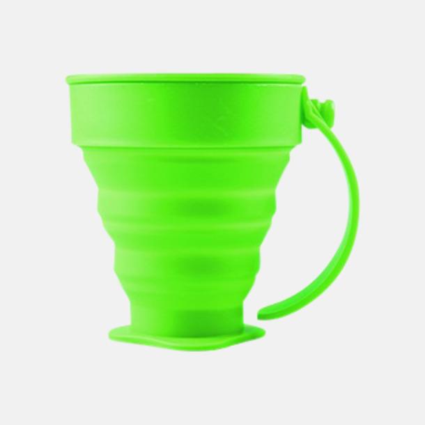 Grön Vikbara koppar i mjuk silikon med reklamtryck