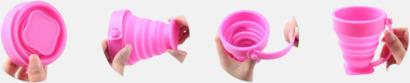 Vikbara koppar i mjuk silikon med reklamtryck