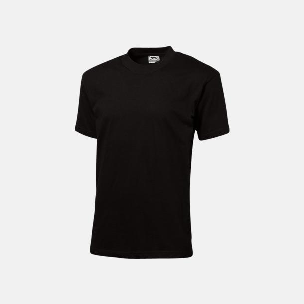 Svart (herr) Herr-, dam & barn t-shirts från Slazenger med reklamtryck