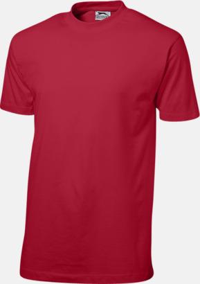 Mörkröd (herr) Herr-, dam & barn t-shirts från Slazenger med reklamtryck
