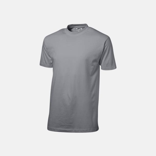 Grå (herr) Herr-, dam & barn t-shirts från Slazenger med reklamtryck