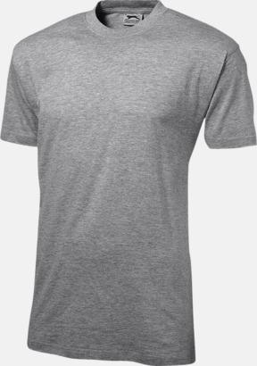 Grå Melange (herr) Herr-, dam & barn t-shirts från Slazenger med reklamtryck
