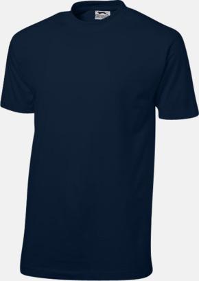 Marinblå (herr) Herr-, dam & barn t-shirts från Slazenger med reklamtryck