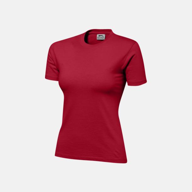 Mörkröd (dam) Herr-, dam & barn t-shirts från Slazenger med reklamtryck