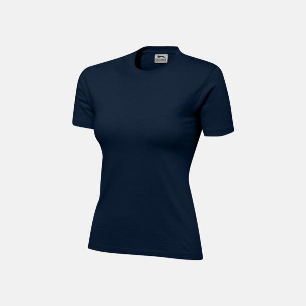 Marinblå (dam) Herr-, dam & barn t-shirts från Slazenger med reklamtryck