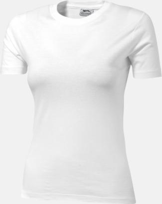 Vit (dam) Herr-, dam & barn t-shirts från Slazenger med reklamtryck