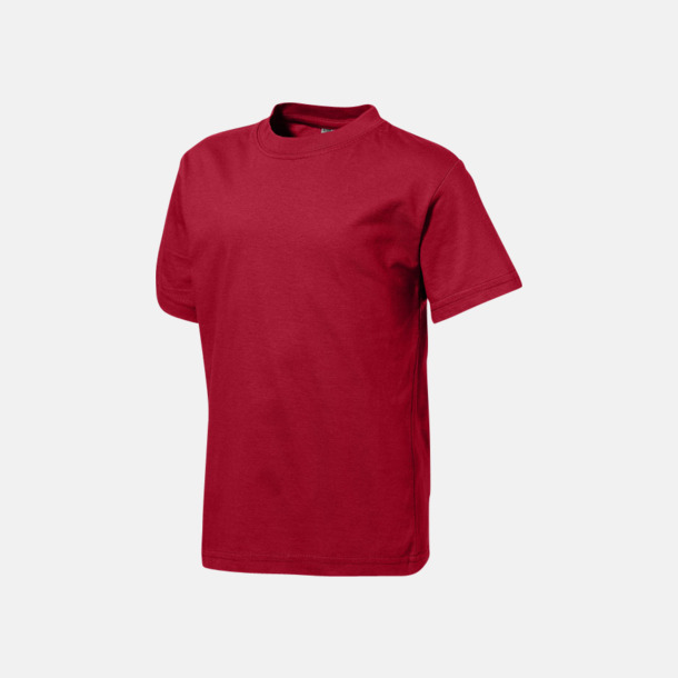 Mörkröd (barn) Herr-, dam & barn t-shirts från Slazenger med reklamtryck