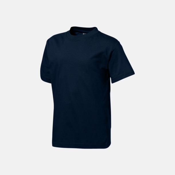 Marinblå (barn) Herr-, dam & barn t-shirts från Slazenger med reklamtryck