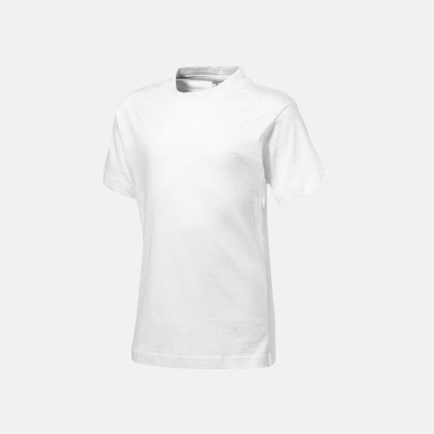 Vit (barn) Herr-, dam & barn t-shirts från Slazenger med reklamtryck