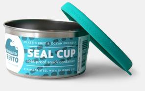 Läcksäkra snacksburkar i rostfritt stål med reklamlogo