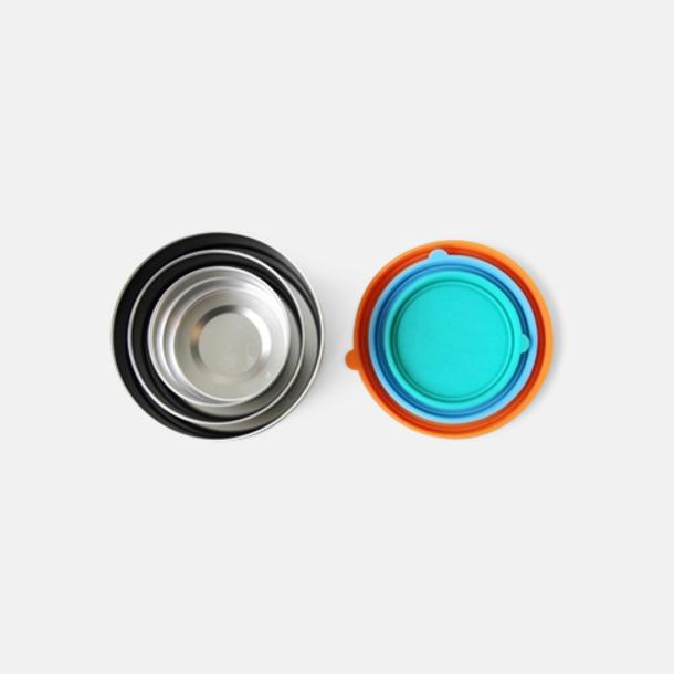 Silver 3-pack läcksäkra snacksburkar i rostfritt stål med reklamlogo