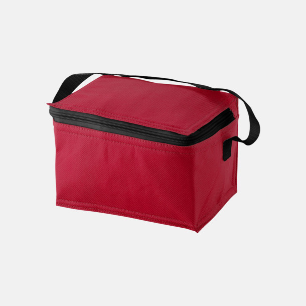 Röd 33 cl-burks kylväskor med reklamtryck