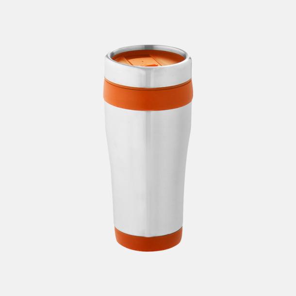 Orange Take away-muggar med reklamtryck