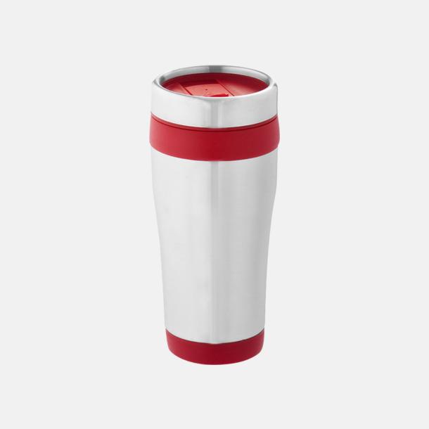 Röd Take away-muggar med reklamtryck