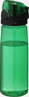 Transparent grön BPA-fria vattenflaskor med reklamtryck