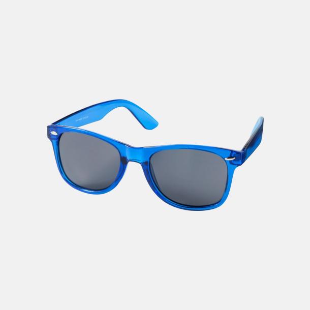 Transparent Blå Solglasögon i transparenta färger med reklamtryck