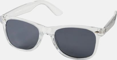 Transparent klar Solglasögon i transparenta färger med reklamtryck