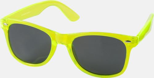 Transparent limegrön Solglasögon i transparenta färger med reklamtryck