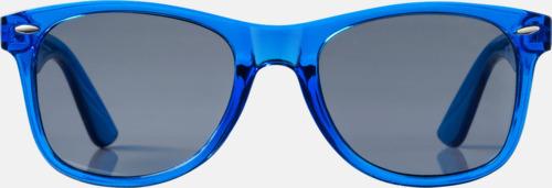 Solglasögon i transparenta färger med reklamtryck